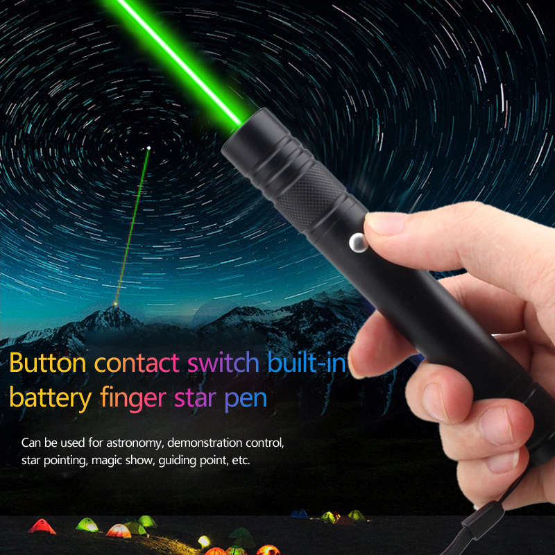 5mW 532nm Green Laser Red Hunting Lazer Presenter Remote Lazer Pointer Pen Visible Beam Light Built-in USB Rechargeable Battery