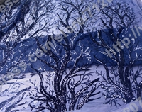 Deep blue Sequins on net embroidery fabric stage performances 51 inches width fashion Beautiful bright brilliance Bige tree