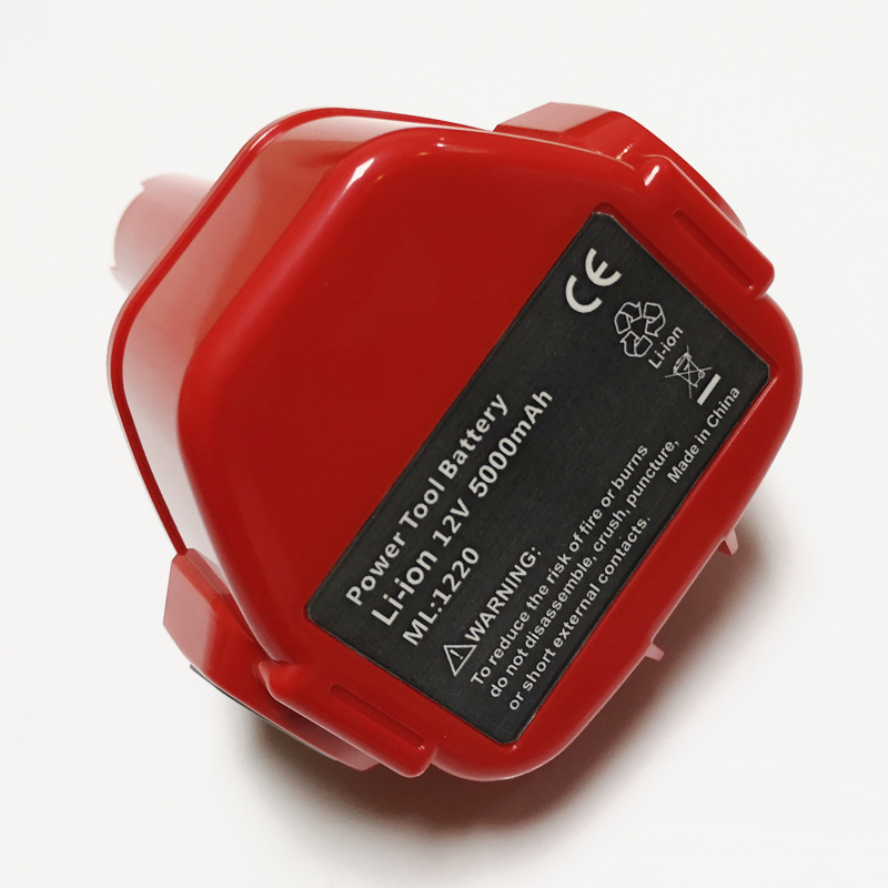 Célula de batería de ion de litio recargable de 12V, destornillador de taladro eléctrico inalámbrico makita de 5.0ah, 1050D, 4331D, 5093D, 4013D, 4191D, 6917D