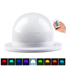 Free Ship 4Pcs/Lot 85mm Bulblite RGB + White LED lighting system Waterproof Rechargeable Bulb Lite LED under table light for Wed 5pcs 2015 new free shipping waterproof rechargeable under table led light for wedding vc l120