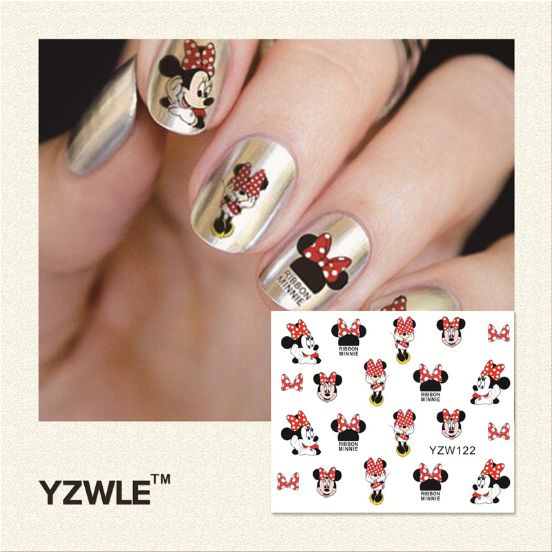 YZWLE 1 Piece Hot Sale Water Transfer Nails Art Sticker Manicure Decor Tool Cover Nail Wrap Decal (YZW122) best price mgehr1212 2 slot cutter external grooving tool holder turning tool no insert hot sale brand new