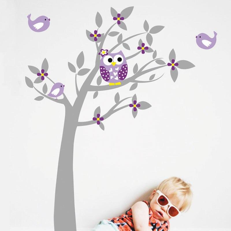 Owl Birds (Վինիլային) Wall Stickers Ծառերի - Տնային դեկոր - Լուսանկար 5