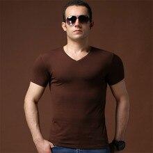 TBAIYE Men's Tops Tees 2018 Summer New Cotton V Neck Short Sleeve T shirt Men Fashion trends fitness T shirt Man High quality