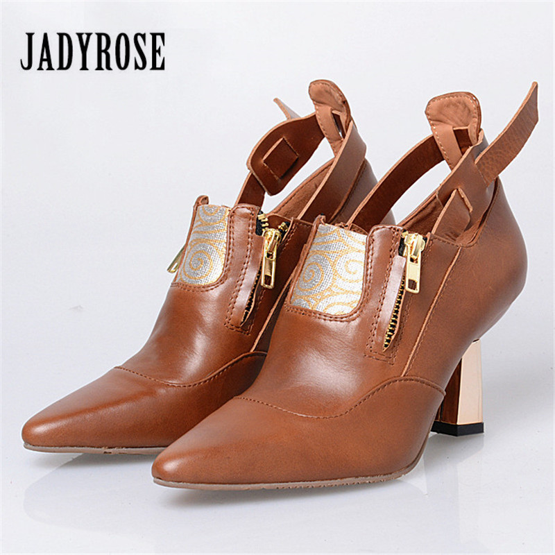 Jady Rose Patchwork Women High Heels Double Zip Women Pumps Female Pointed Toe Wedding Shoes Woman Stiletto Valentine Shoe jady rose 2018 new strange heel women pumps pointed toe high heels female wedding dress shoes woman stiletto valentine shoes