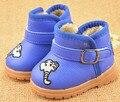 2015 de invierno nuevos hombres y mujeres zapatos de bebé y suelo blando gruesas botas cálidas tendón en la botas de nieve de gama niños coreanos