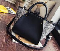 2017 New Women Shoulder Bags Ladies Serpentine Crossbody Bag Designer Korean Style Python Skin Handbags Female