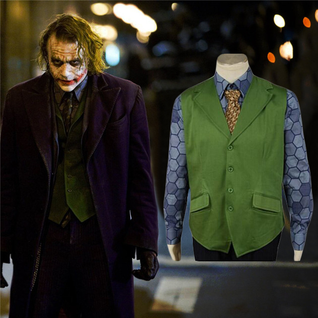 Batman Joker Costume The Dark Knight Joker Shirt Vest Cosplay Costume