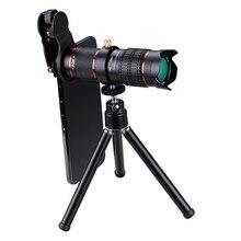 Hd 4k monocular 15x zoom lente do telescópio do telefone móvel telefoto externo smartphones lentes da câmera para todos os iphone android ios