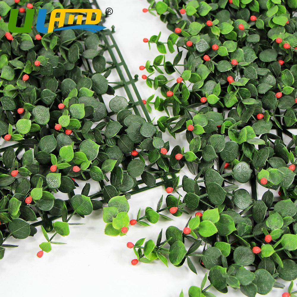 ULAND Außen Künstliche Buchsbaum Pflanzen Matten Hedge Kunststoff