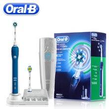 Oral B PRO4000 3D Smart Ультразвуковой Электрический Зубная щётка отбеливание зубов Перезаряжаемые зубная щетка для взрослых ежедневная Чистка десен