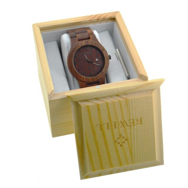 4e78b76835d Top quality BEWELL Madeira Natural Sólido Pacote de Caso PARA Relógios  Acessórios