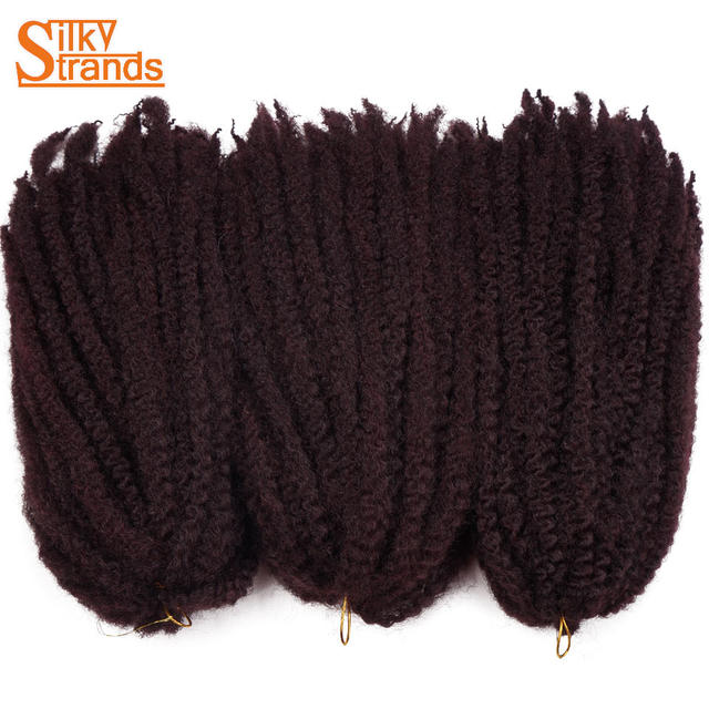 Online Shop Silky Strands Marley Braids Hair Crochet Ombre Afro