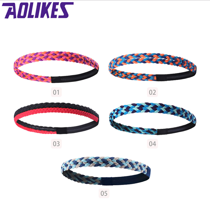 Yoga Hair Bands Headband Anti-slip Elastic Rubber Sweatband Football Yoga Running Biking Sports Headscarf Hair band