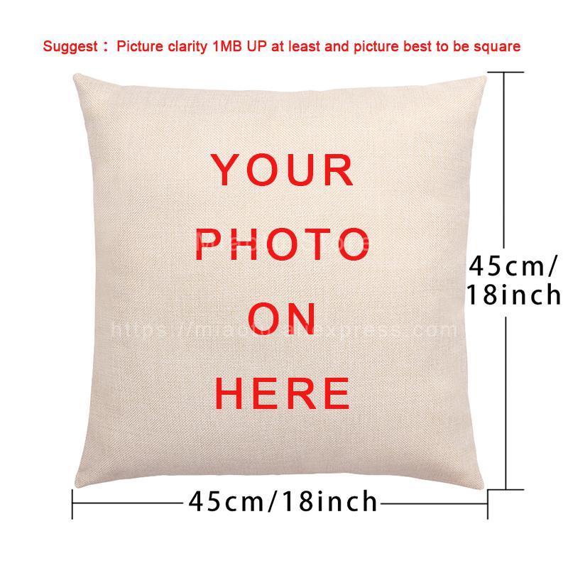 Bebê família animais de estimação personalizado capa de almofada impressão algodão linho fronha personalizado travesseiro capa para sofá diy logotipo travesseiros