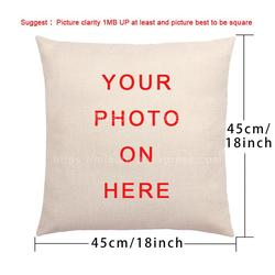 Baby Family Pets Custom  Cushion Cover Printing Cotton Linen Pillowcase Customized Pillow Cover For Sofa  DIY Logo pillows