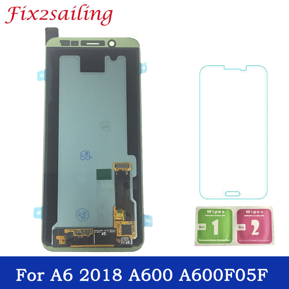 Super Amoled For Samsung Galaxy A6 2018 A600F A600F LCD Display Touch Screen Assembly 100% Tested Working LCDS Free ShippingSuper Amoled For Samsung Galaxy A6 2018 A600F A600F LCD Display Touch Screen Assembly 100% Tested Working LCDS Free Shipping