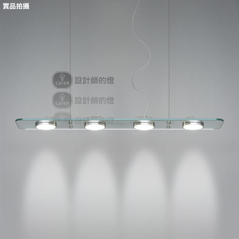 3 4 Crystal LED Lights 73 98CM Alunimun Glass Pendant Lighting Dining Table Office Lamp In From