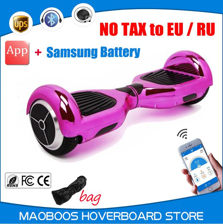 Chrome color samsung battery APP self balance electric font b Hoverboard b font gyroscope scooter overboard