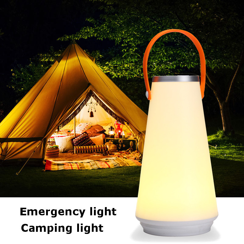 Rechargeable Dimmable USB LED Hiking Camping Lantern Night Light Bedroom Bedside Table Lamps Outdoor Warm Lights Touch Switch