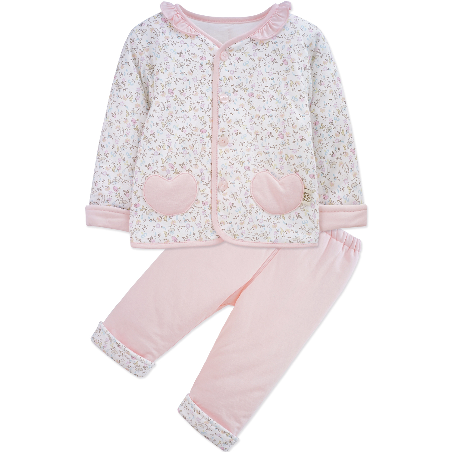 Yingzifang 2017 Baby Girls Clothing Cotton Floral Girls Clothing Set Baby Clothes Long-Sleeved T-Shirt+Pants 2Pcs Clothing Set 2017 baby clothes set my little boss long sleeve cotton t shirt tops and pant trouser 2pcs outfit bebek giyim clothing set