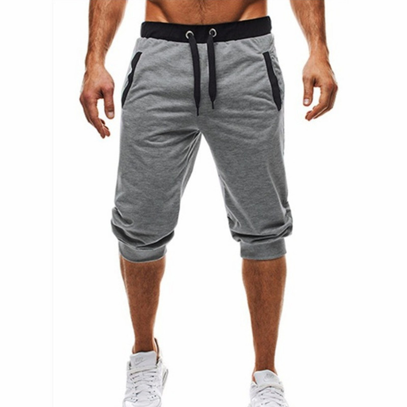 Summer Fashion Brand Mens Jogger Sporting Thin Shorts Men Black Bodybuilding Short Pants Male Fitness Gyms Shorts For Workout