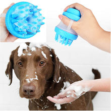 New Qualified Pet Dog Cat Bath Brush Comb Cleaning Massage SPA Shampoo Grooming paw cleaner L6