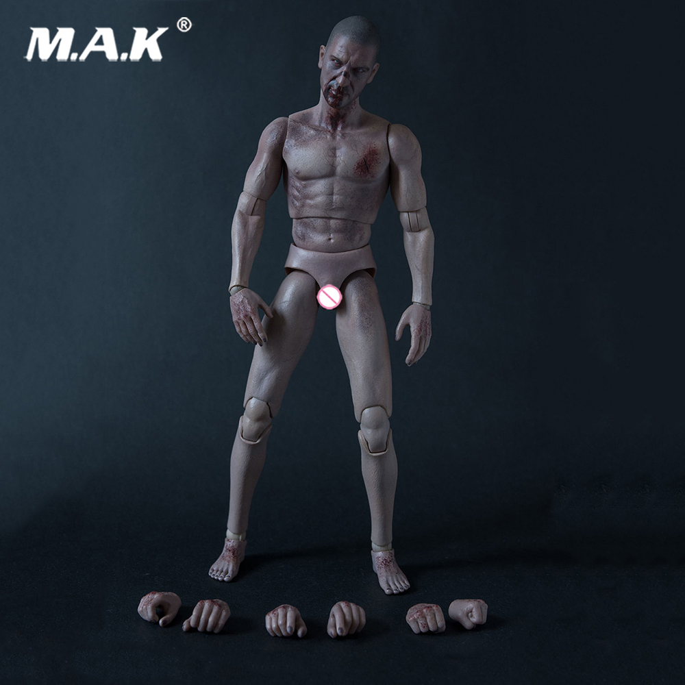 1/6 Scale The Zombie Evil Dead Action Figure Body Head Sculpt set corpse figure body with head blood body Toy AT019 цена