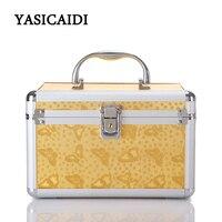 Women S Makeup SuitcaseBlack Travel Cosmetics Make Up Bags Beauty Womens Organiser Toiletry Purse Handbag Polka