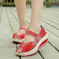 2017 Summer Women Casual Shoes Platform Sandals Shoes Women Flats Shoes Wedge Zapatillas Deportivas Mujer Size 35-40