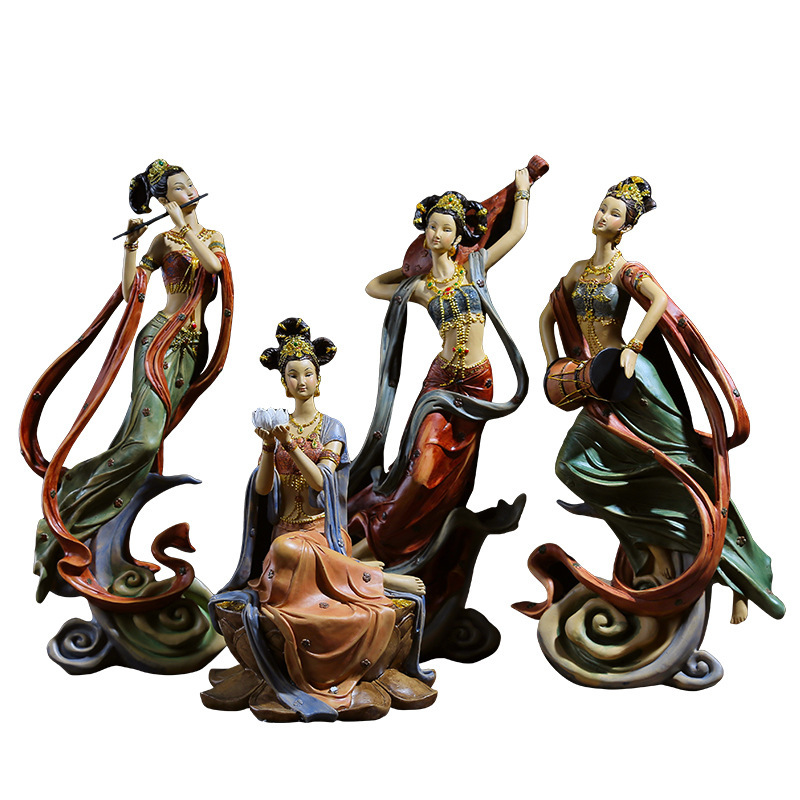 Creative Resin Handicraft Modern Classical Character Fairy Decoration Ancient Beauty Liquor Cabinet Living Room Study Decoration