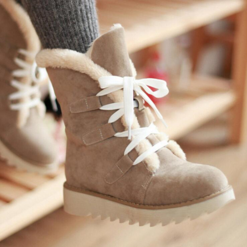 Women's Snow Boots Thick Wool Warm With Cotton Shoes Plus Size Women's Boots Ladies Fashion Casual Shoes winter Casual Sneaker 76