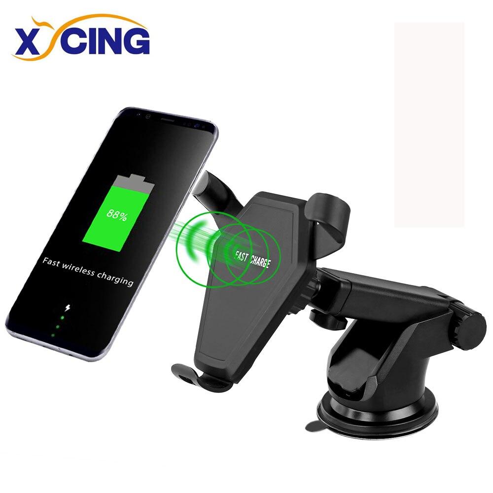 XYCING N5 Autotelefonhalter 10 Watt Qi Auto Drahtlose Ladegerät für iPhone 8/X Schnelle Drahtlose Aufladen für Samsung S8/S8 +/S7 Rand halterung
