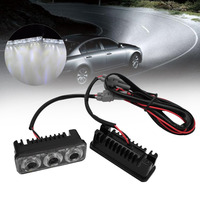ICOCO New 3 LED Waterproof Car Light Universal Daytime Running Lights DC12V Super White Auto Car