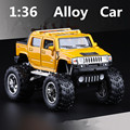 1:40 alloy pull back cars ,the Hummer H2 high simulation model,metal diecasts ,toy vehicles, educational toys,free shipping