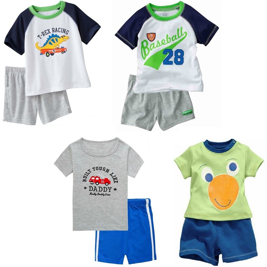 2018 Newest Baby Boy Clothes Suits 100% Cotton Children T-Shirts Shorts Pants 2 3 4 5 6 7 Years Sleeved Tee Shirts Panties 2pcs футболка для мальчиков children boy clothes camisa 100% vetement garcon enfant girls tee shirts