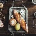Европейская ретро металлическая пластина с ручками ручной работы кованый винтажный поднос для Хранения Хлеба украшение для дома сад ресто...