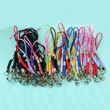 tassels Lariat Lanyard mobile straps Hang Rope cell keychain Charms Lobster clasp split jump ring diy Connector hook Fastener(China)