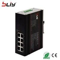 Bliy 8GT Лидер продаж 8 полный гигабитный порт Промышленный Коммутатор Ethernet 10/100/1000 M волокна коммутатора коммутатор gigabit PoE DC10 ~ 58 V