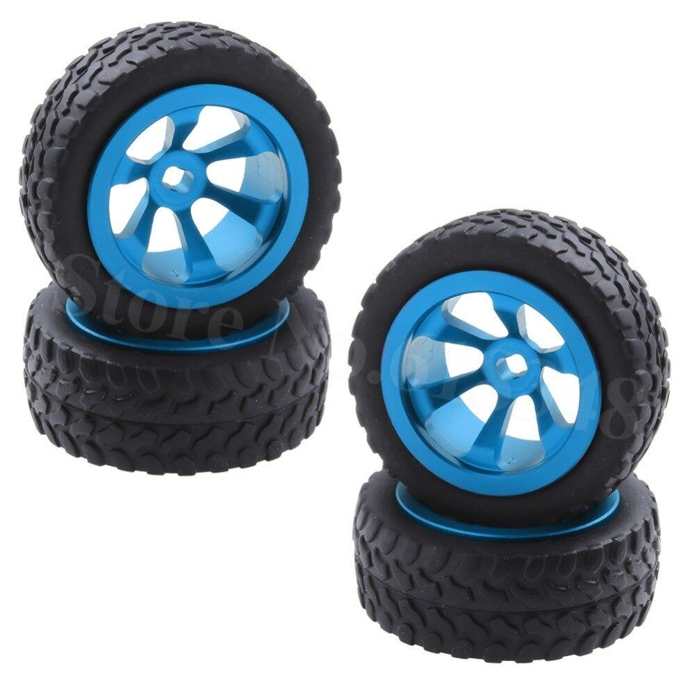 4 шт. Алюминий сплав шины и колеса для WLtoys 1/28 RC автомобилей K969 K989 K999 P929 4WD Краткий курс Drift off Road Rally Замена