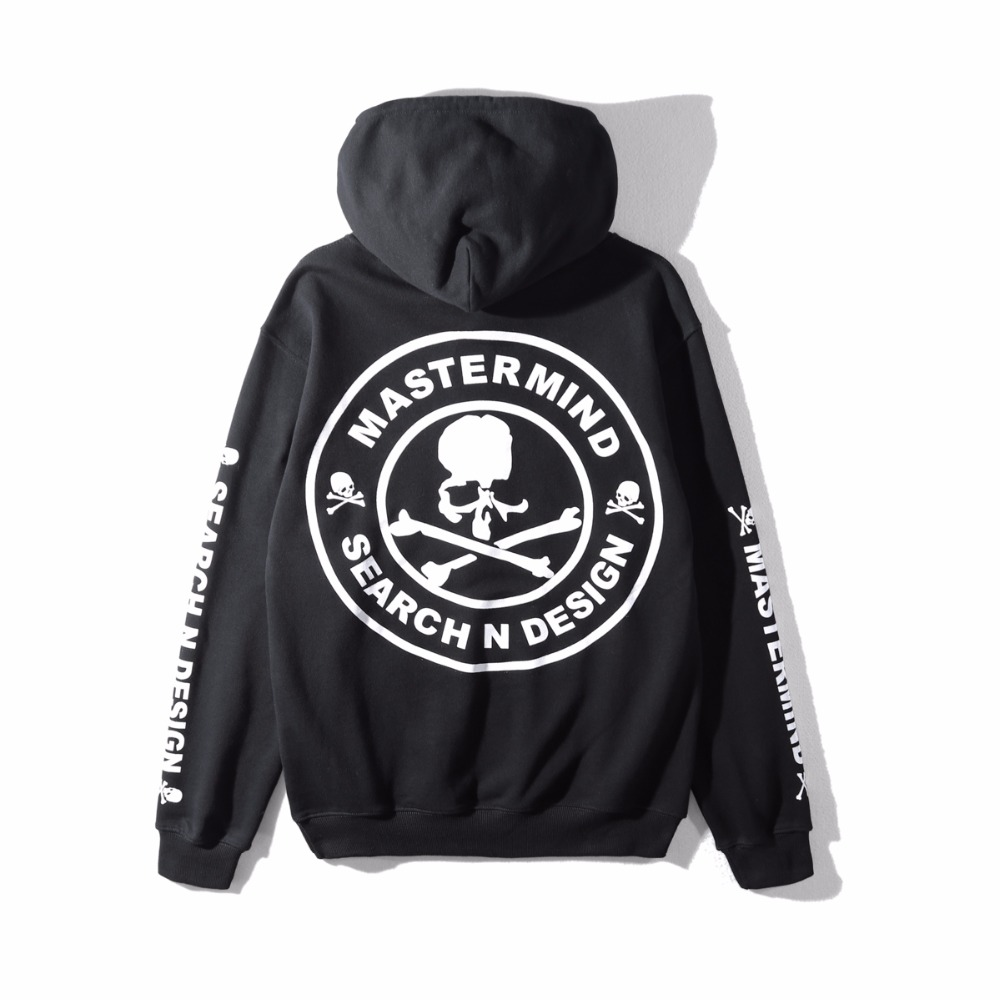 2018 New 1:1 High Quality Mastermind Japan Pullover Hoodies Hip Hop Men Women Mmj Skeleton Fashion Casual Sweatshirts Black Men's Clothing