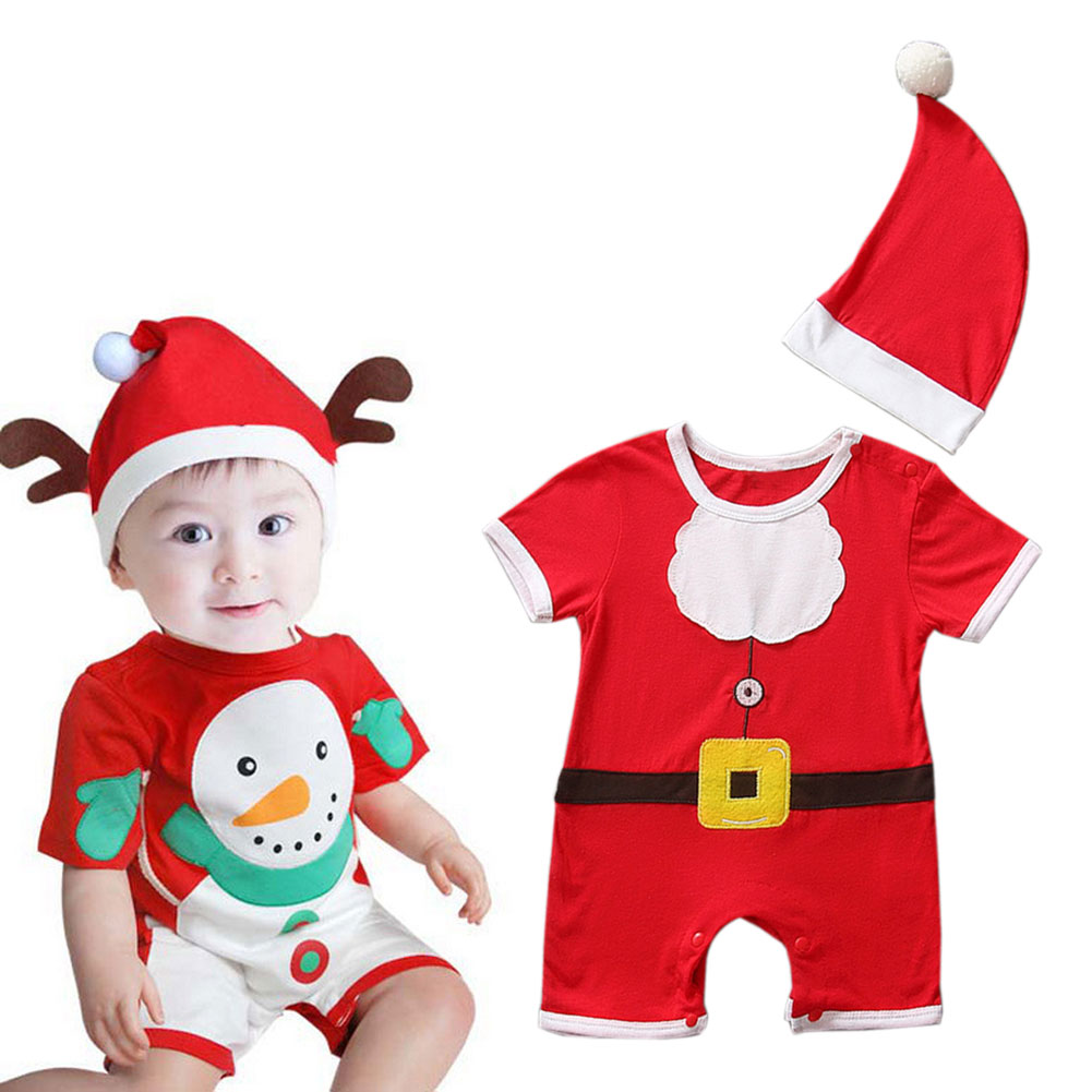 New Fashion Christmas Gift Baby Clothes Santa Claus Festival Decorate Christmas Party Dress Up Funny Cute Costumes LB
