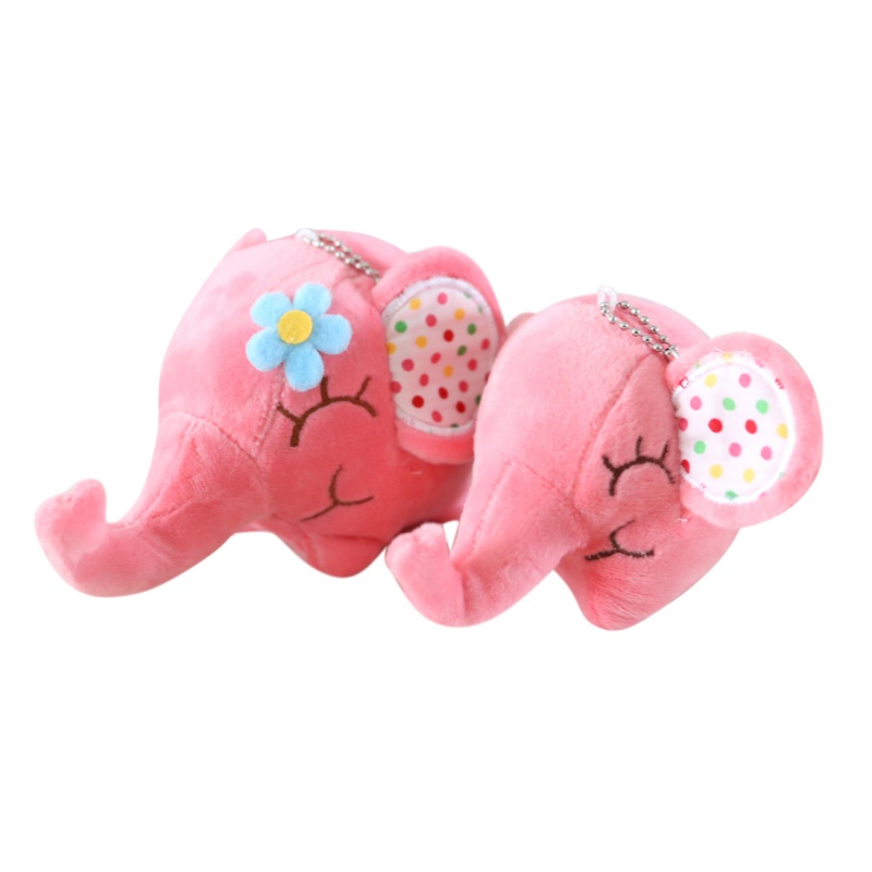 2017 Super Kawaii Cute Kids Toy Floral Print  Elephant Approx DOLL Plush Stuffed Toy Baby Girl Pendant Bouquet DOLL Funny Toy j2