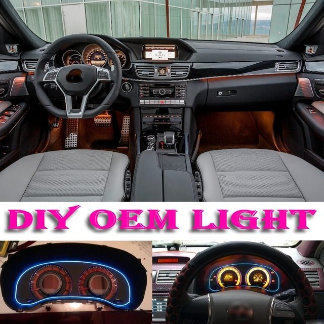 lumi re de l 39 atmosph re de voiture flexible neon light el fil int rieur lumi re autocollants. Black Bedroom Furniture Sets. Home Design Ideas