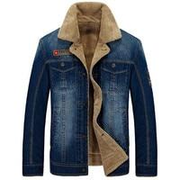 New Warm Denim Jackets Mens Jeans Coats Winter Jackets Brand AFS JEEP Thicken Denim Coat Men