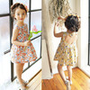 2017 Summer New Korean Style Girls High Quality Fashion Hot Sales Sleeveless Floral Dress Cotton Print