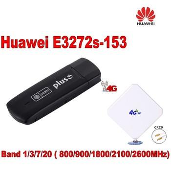 Odblokuj 150 mb s HUAWEI E3272 Modem 4G LTE cat4 HUAWEI 4G pamięć usb e3272s-153 + o wysokiej mocy 35dbi LTE 4G crc9 zewnętrzna antena 4G tanie i dobre opinie wireless Zdjęcie Zewnętrzny Wcdma E3272-153 150Mbps
