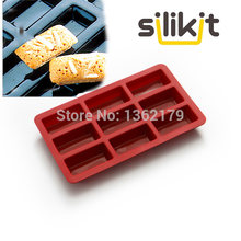 Gratis pengiriman 9 Financiers Bakeware Kue Mold Silicone Karet Gaya Eropa Kue Biskuit Pan Kecil Mini Rectangle Sabun Mold(China)