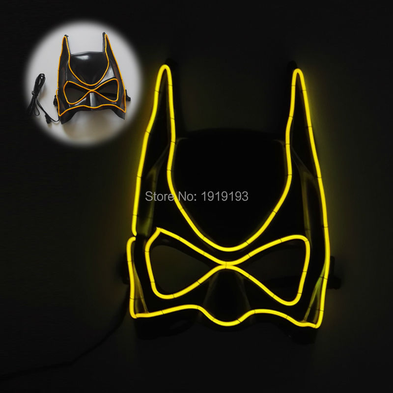 Hot sales New Cartoon Mask EL wire Masks Sound Active LED Strip Glowing dance Carnival Masks Festival Halloween Party Decoration skull masks full face cs protection paintball airsoft gun masks military tactical skull masks halloween protect horror masks m02