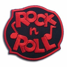 Custom Iron On Embroidered Patch  Rock and Roll Music Sew biker customized with your own design logo factory OEM service