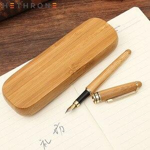 Hethrone 1 шт., креативные высококачественные бамбуковые авторучки, офисный подарок, 0,5 мм чернильная ручка для школы, каллиграфическая ручка, ка...
